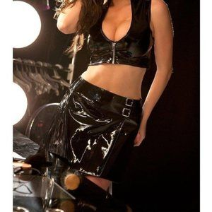 Allure Vinyl Black Skirt 3X